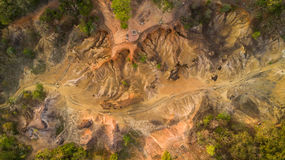 Вид с воздуха размывания песчаника Стоковые Фотографии RF