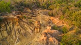 Вид с воздуха размывания песчаника Стоковые Изображения RF
