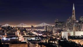 Вид с воздуха района Сан-Франциско финансовый сток-видео