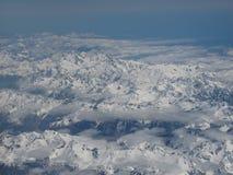 Вид с воздуха саммитов горы снега в Queenstown Новой Зеландии Стоковая Фотография