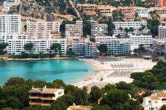 Вид с воздуха Санты Ponsa и пляжа, Мальорки стоковые изображения rf