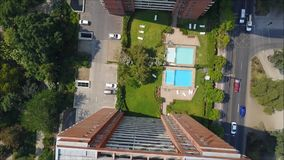 Вид с воздуха Сантьяго столица Чили сток-видео