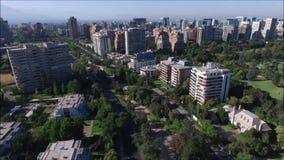 Вид с воздуха Сантьяго столица Чили видеоматериал