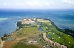 Вид с воздуха северного Пуэрто-Рико Стоковое фото RF
