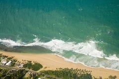 Вид с воздуха северо-восточного Пуэрто-Рико Стоковые Фото