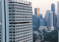 Вид с воздуха Сингапура от использующего горячего воздух воздушного шара Стоковая Фотография RF