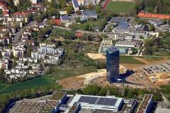 Вид с воздуха современного района Штутгарта Стоковая Фотография