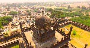 Вид с воздуха старого дворца в Индии сток-видео