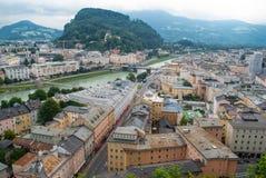 Вид с воздуха старого города Стоковые Изображения RF