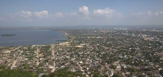 Вид с воздуха старого города Cartagena Стоковые Изображения