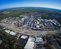Вид с воздуха старого городка в Kissimmee Флориде Стоковое фото RF