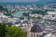 Вид с воздуха старого городка Стоковое фото RF