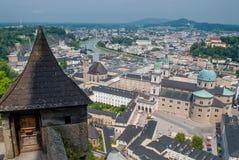Вид с воздуха старого городка Стоковая Фотография