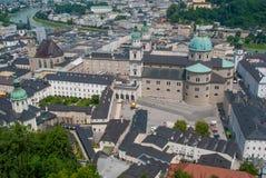 Вид с воздуха старого городка Стоковые Фото