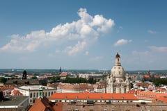 Вид с воздуха старого Дрездена стоковые фотографии rf