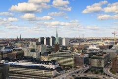 Вид с воздуха Стокгольма, Швеции Стоковые Изображения