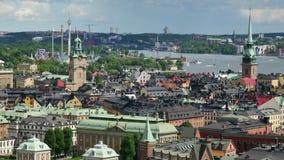 вид с воздуха Стокгольм видеоматериал