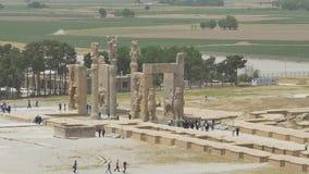 Вид с воздуха строба Persepolis видеоматериал