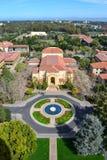 Вид с воздуха Стэнфордского университета Стоковое Изображение RF