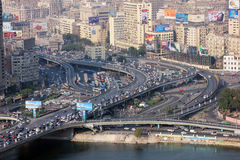 Вид с воздуха толпить Египта Каира Стоковая Фотография RF