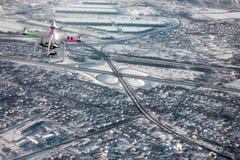 Вид с воздуха транспортной развязки стоковые изображения