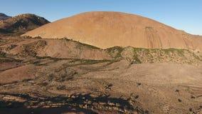 Вид с воздуха утеса гранита - Южная Африка акции видеоматериалы