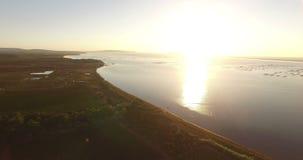 Вид с воздуха французской сельской местности видеоматериал