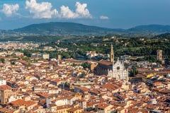 Вид с воздуха Флоренса Италии Стоковое Изображение RF