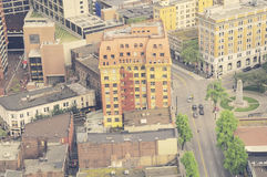 Вид с воздуха центра города Ванкувера Стоковая Фотография RF