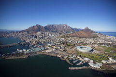 Вид с воздуха централи Кейптауна Стоковые Фотографии RF