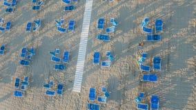 Вид с воздуха частного пляжа Стоковое фото RF
