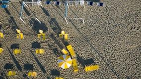 Вид с воздуха частного пляжа Стоковое Изображение