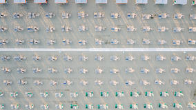 Вид с воздуха частного пляжа Стоковое Фото