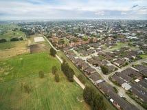 Вид с воздуха Челси, Мельбурна, Австралии стоковое фото rf