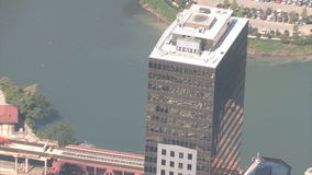 Вид с воздуха Чикаго сток-видео