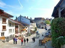 Вид с воздуха швейцарской деревни страны. Стоковое Изображение RF