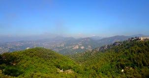 Вид с воздуха Alpes-морской, южной Франции видеоматериал