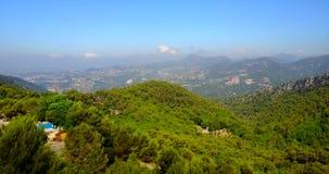 Вид с воздуха Alpes-морской, южной Франции сток-видео
