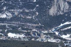 Вид с воздуха Banff Канады Стоковое Изображение RF
