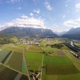 Вид с воздуха - Bex, Швейцария Стоковое Изображение RF