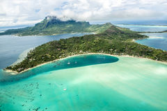 Вид с воздуха Bora Bora стоковое фото