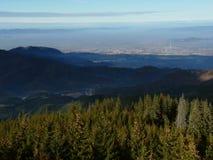 Вид с воздуха Brasov Стоковые Изображения RF