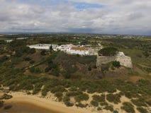Вид с воздуха Cacela Velha стоковая фотография rf