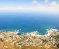 Вид с воздуха Cape Town Стоковая Фотография