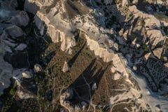 Вид с воздуха Cappadocia Стоковая Фотография
