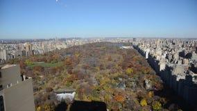 Вид с воздуха Central Park, Манхаттан видеоматериал