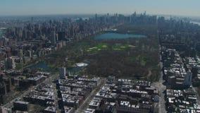 Вид с воздуха Central Park устроился удобно в Нью-Йорке видеоматериал