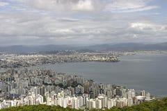 Вид с воздуха Florianopolis - Бразилия стоковые фотографии rf