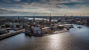 Вид с воздуха Gamla Stan Стоковые Изображения