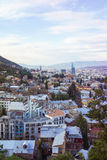Вид с воздуха Georgia центра города Тбилиси Стоковые Изображения